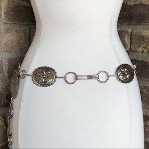 Vintage Belt Western Concho Chain Boho